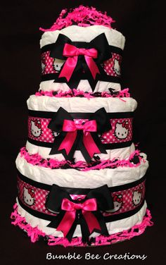 baby shower cheetah hello kitty | Hello Kitty Cheetah Print Baby Shower Cake Hello kitty