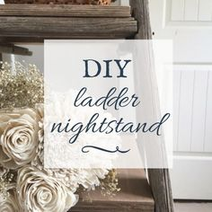 There is nothing I love more than upcycle projects. I took this old, falling apart ladder, and turned it into my DIY ladder nightstand! Its so cool!