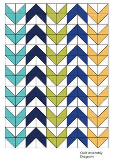 Looking for your next project? You're going to love Arrow - Twin Quilt - PDF Quilt pattern by designer airbornquilts.