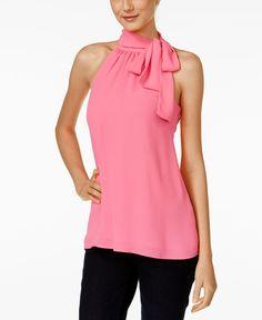 CeCe Tie-Neck Halter Top | Fashion | Pinterest | Tops online, Top ...