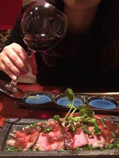 和風ローストビーフと赤ワイン♪ちょっぴり優雅な休日でした。【やっぱり赤さん】