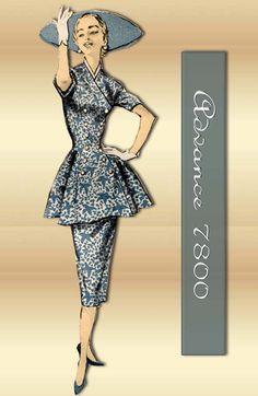 1950s Sewing Pattern Advance 7800 Tunic Dress by FloradoraPresents, $52.00