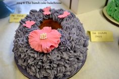 Flower and butterfly themed bundt cake