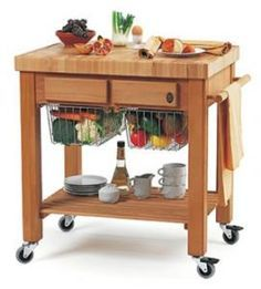 kitchen trolly with veg storage too!