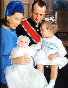 Ready for Royalty Photo Spotlight:Christenings-then Crown Prince Harald, Crown Princess Sonja, Princess Martha Louise and baby Prince Haakon Magnus