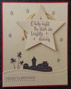 Handmade Religious Christmas Cards.Handmade Christmas Card By Morningstar Samps Star Die Cut