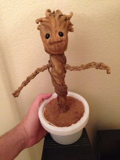 DIY dancing baby Groot (click through the link for step-by-step photos!)
