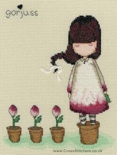 Gorjuss - The Last Rose - Cross Stitch Kit from Bothy Threads
