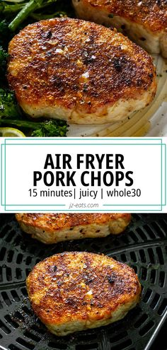 Air Fryer Pork Chops are juicy, tender, and sure to become one of your favorite air fryer recipes! This 15 minute pork chop recipe is perfect for any night of the week. #airfryerrecipes #airfryerporkchops #porkchoprecipes #airfryerporkchopsboneless Air Fryer Recipes Pork Chops, Cooking Pork Chops, Air Fryer Pork Chops, Pork Chop Recipes, Grilling Recipes, Meat Recipes, Cooking Recipes, Lunch Recipes, Best Easy Dinner Recipes