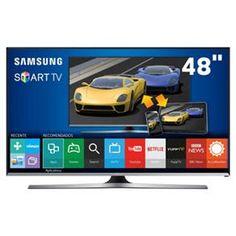 """Smart TV LED 48"""" Full HD Samsung 48J5500 com Connect Share Movie, Screen Mirroring, Função Festa, Wi-Fi, Entradas HDMI e USB"""