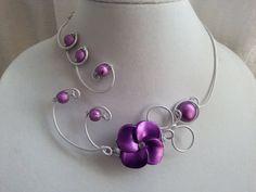 Wedding jewelry  Prom jewelry  Aluminium par LesBijouxLibellule