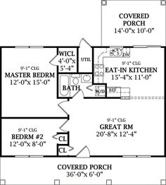 Floor Plan image of COUNTRY COTTAGE 2 House Plan