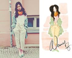 i love that she illustrates all of her outfits