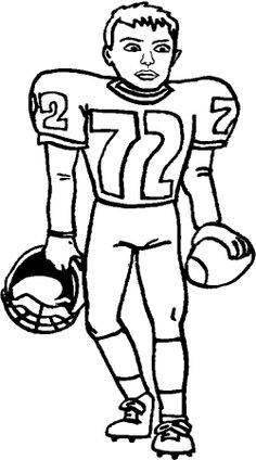 Sports Clipart Image of Black White Sacked Tackled