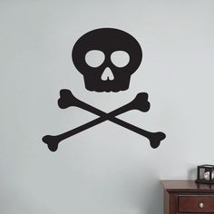 Sweetums Skull and Crossbones Wall Decal 24 inches wide x 24 inches tall