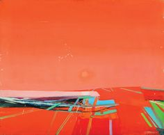 "RAIMONDS STAPRANS (Californa b. 1926) ""Landscape"" Oil on canvas #michaans http://www.michaans.com/highlights/2015/highlights_08082015.php"
