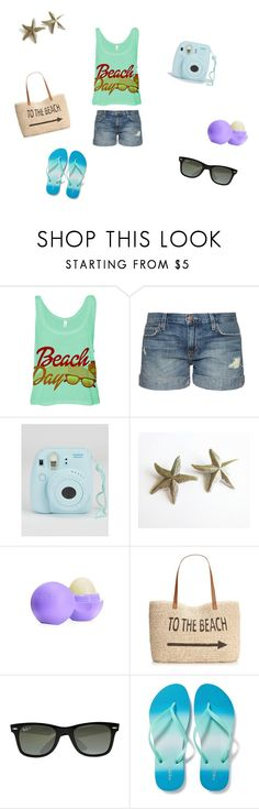 """Day at the beach"" by nilsa-m14 on Polyvore featuring Current/Elliott, Eos, Style & Co., Ray-Ban, Old Navy, women's clothing, women, female, woman and misses"