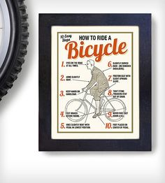 A gentleman's guide to riding a bicycle.
