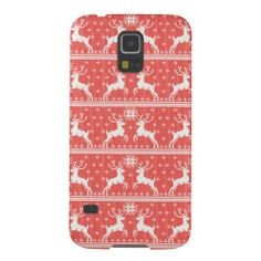 Knitted Deer Pattern Galaxy S5 Cases