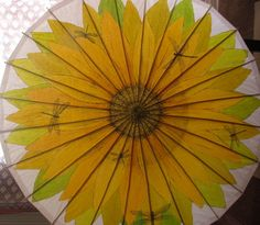Sunflower with Dragonflies Theme Hand Painted by ARTintersect, $87.00