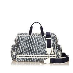 c964c1185999 Navy Blue   White Christian Dior Trotter Duffel Bag