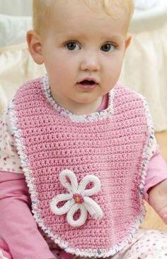 Blossom Bib Free Crochet Pattern