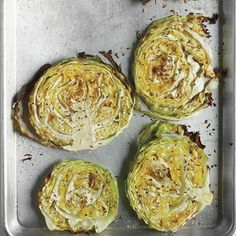 ~ Roasted Cabbage Wedges.....Super simple to make, this healthy side dish packs a crunchy, flavorful punch.