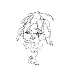 artist Allison Kunath. blind contour drawing.