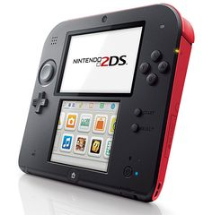Nintendo 2DS Nintendo's newest handheld is different than their current 3DS unit; it features a flat, tablet style form factor with 2 screens & it plays all 3DS games as well as older DS games. The 2D has 2 cameras for snapping pics & recording video and it's going to cost 40 bucks less than the 3DS unit when it hits stores this fall. $130
