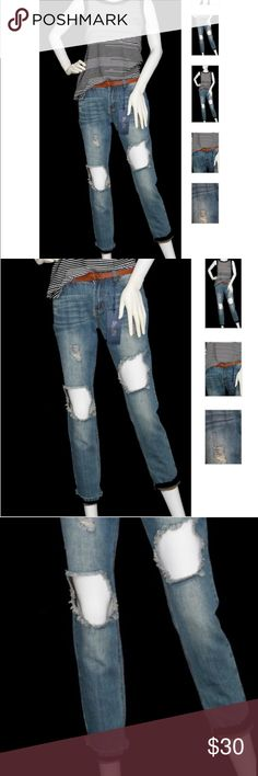 Denim boyfriend jeans with belt Throw on your fashion sneakers or sexy heels to rock your style. No matter what that may be, these will become your new favorite jeans. Boulevard jeans Jeans Boyfriend