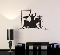 Vinyl Decal Drummer Drums Music Musician Musical Decor Wall Stickers Unique Gift (ig2764)