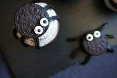 Spinnen-Oreo-Cupcakes