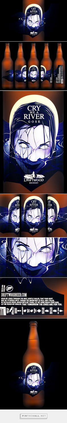 Cry Me a River Gose for Driftwood Brewery label design by Hired Guns Creative (Canada) - http://www.packagingoftheworld.com/2016/06/cry-me-river-gose-for-driftwood-brewery.html