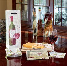 Vintage Wine Bags, Cocktail Napkins and Desert Plates Wine Bags, Vintage Wine, Gifts For Wine Lovers, Cocktail Napkins, Deserts, Cocktails, Plates, Design, Licence Plates