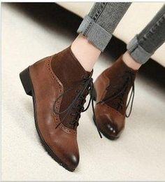 Womens Fall winter fashion boot BROWN sz. 8