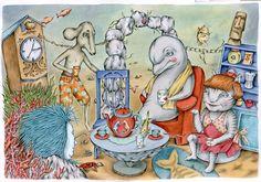 Illustration by Gerda Märtens for 'Niru, Vääks ja sõbrad' / 'Niru, Vääks and Friends' by Farištamo Susi. 2015