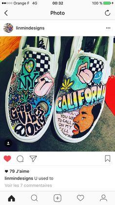 Art Art tattoo shops and piercing - Tattoos And Body Art Painted Vans, Hand Painted Shoes, Vans Shoes, Shoes Sneakers, Shoes Heels, Tennis Vans, Cute Vans, Vanz, Diy Vetement