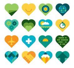 Love it concept: somehow logo wrap around heart, into heart (arrow threw heart idea), icon of computer in heart