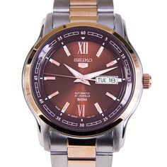 Buy authentic Seiko 5 Automatic Ladies Watch at lowest price. Cool Watches, Watches For Men, Seiko 5 Automatic Watch, Mobile Gadgets, Chronograph, Fashion Watches, Lady, Omega Watch, Smart Watch