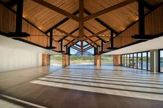 Inhouse Brand Architects executes a modern design for Anura Vineyards' new events venue and bar. Pavilion Architecture, Space Architecture, Contemporary Architecture, Function Hall, Events Place, Hall Design, Amazing Spaces, Design Furniture, Architect Design