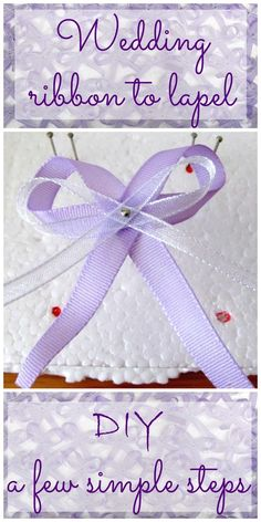 DIY: Wedding ribbon to lapel in a few simple steps Diy Flowers, Our Wedding, Diy And Crafts, Ribbon, Wedding Inspiration, Embroidery, Simple, Blog, Weddings
