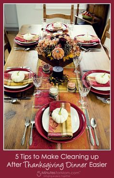 5 Tips to Make Cleaning up After Thanksgiving Dinner Easier. This holiday cleaning post is sponsored.