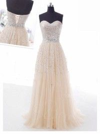 A Line Modest Fashion Elegant Plus Size Long Prom Evening Bridesmaid Dresses Lace Sequin Crystal 2014 Sleeveless Formal 2013 Dress Simple 17...