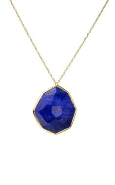 IPPOLITA S/S 2012 LAPIS MODERN ROCK CANDY OCTAGON PENDANT NECKLACE