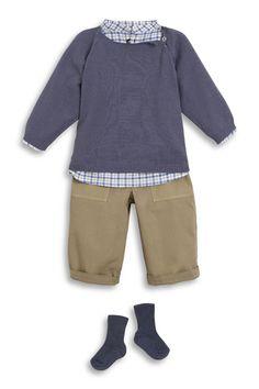 Collection Bonton été 2013 ♥ Tunique imprimée Serpe ♥ Pull fin ♥ Pantalon Fax en toile ♥ Chaussettes à côtes