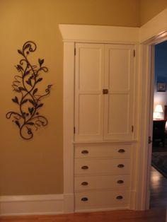 Doors upper, drawers below