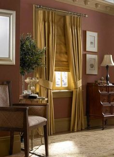 the warm elegance drapery can add to a room