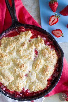 recipe for Strawberries and Cream Skillet Cobbler