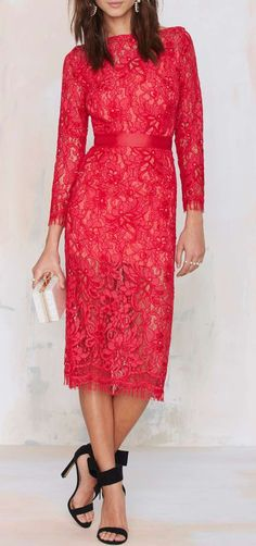 Because the Night Lace Dress