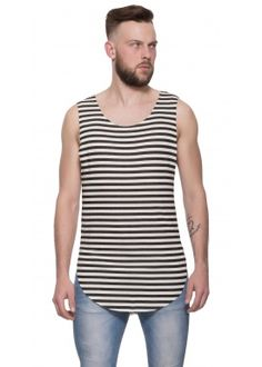 Scoop long tank stripe